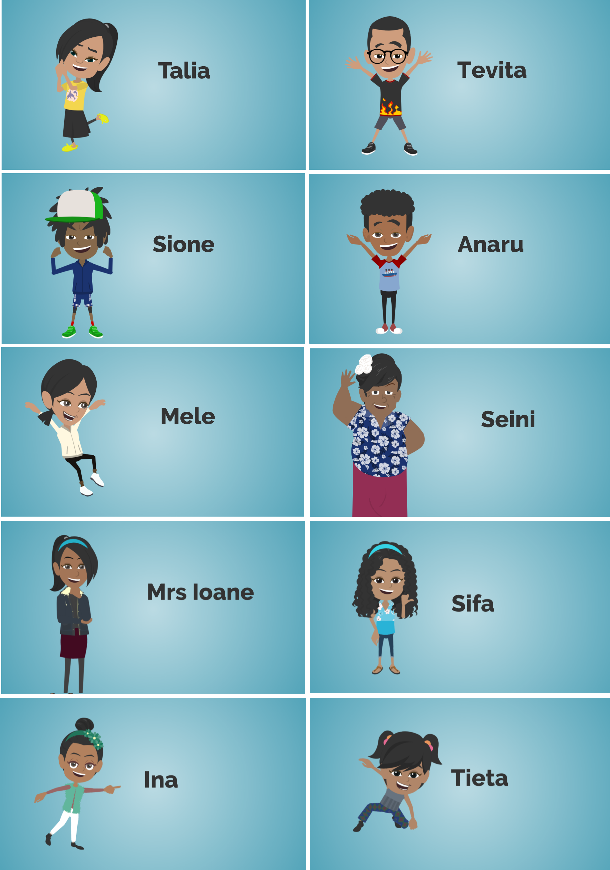 Pacific Learners Animation Character